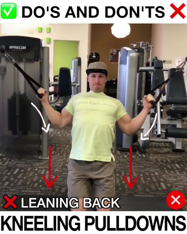🚨Kneeling Pulldowns Proper Form🚨