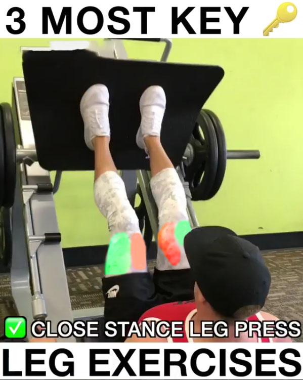 ✅Close Stance Leg Press