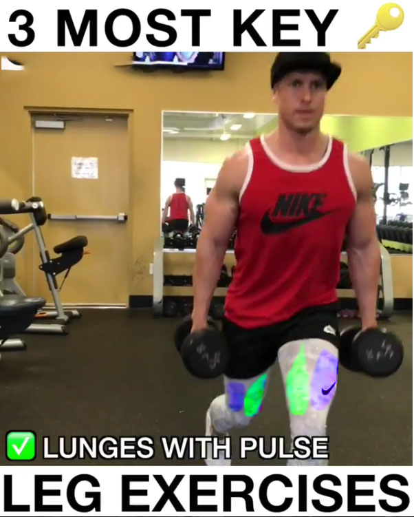 ✅Lunges With Pulses