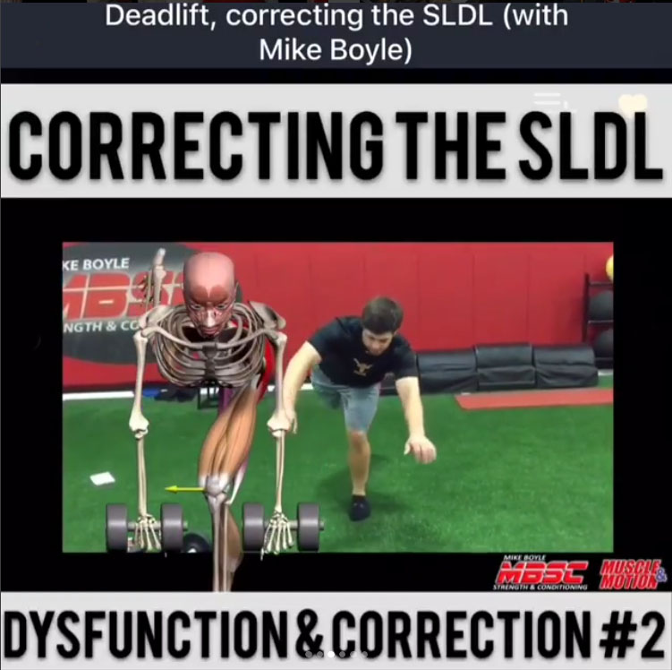 Correcting The Single Leg Dead Lift (SLDL)