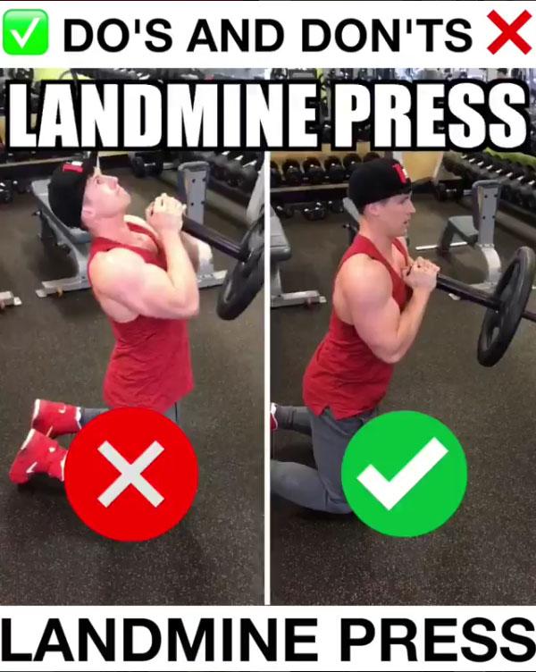 🚨Landmine Press Proper Form🚨