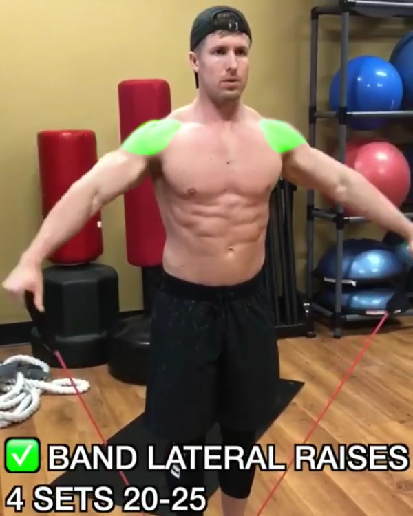 ✅Band Lateral Raises