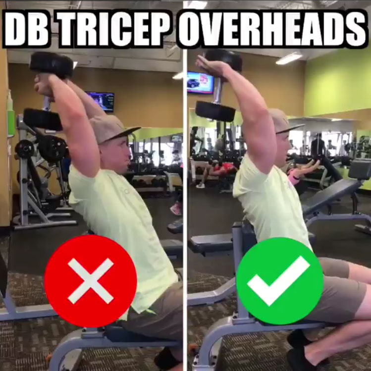 🚨DB Tricep Overheads Proper Form