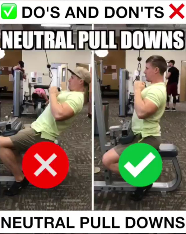 🚨Neutral Pulldowns Proper Form🚨