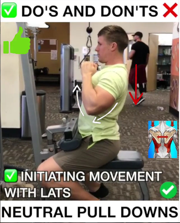 ✅Neutral Pulldowns Proper Form