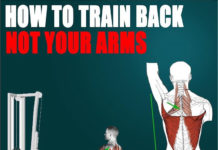 TRAIN YOUR BACK NOT YOUR ARMS