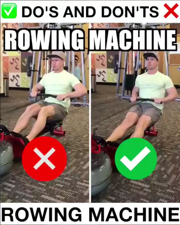 🚨Rowing Machine Proper Form