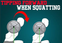 tipping forward during your squat?