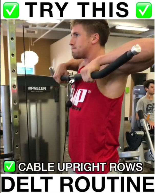 Cable Machine Upright Rows