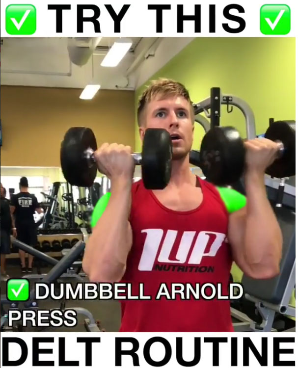 🔥Standing Dumbbell Arnold Press