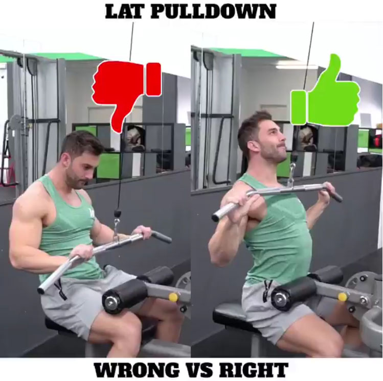 🚨LAT PULL DOWN 👎WRONG VS 👍RIGHT