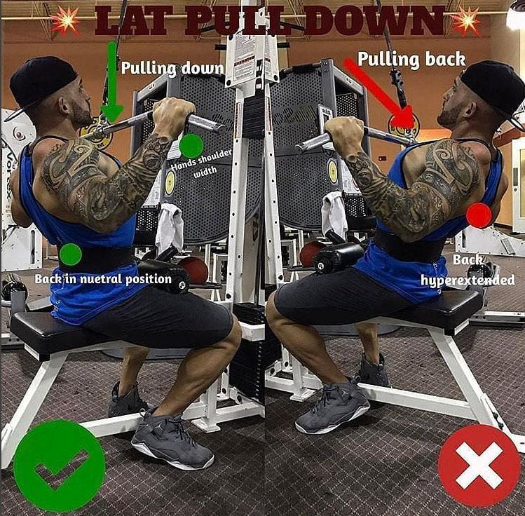 LAT PULL-DOWNWRONG VS RIGHT