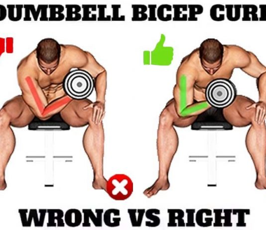 DUMBBELL CURL WRONG VS RIGHT