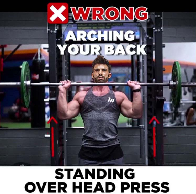 shoulder press -Wrong Variant