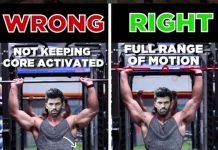 Shoulder Press - Wrong & Right Press