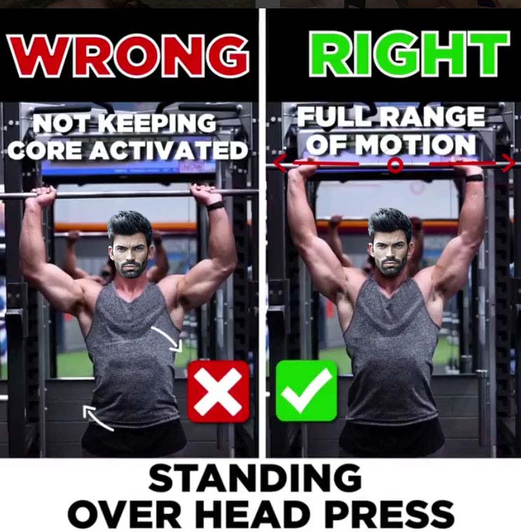 Shoulder Press - Wrong & Right Press