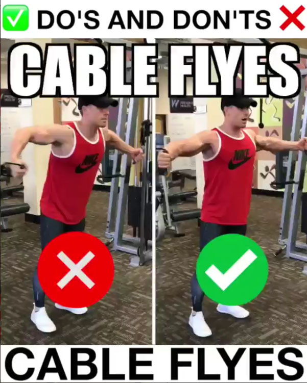 🚨Cable Flyes Proper Form🚨