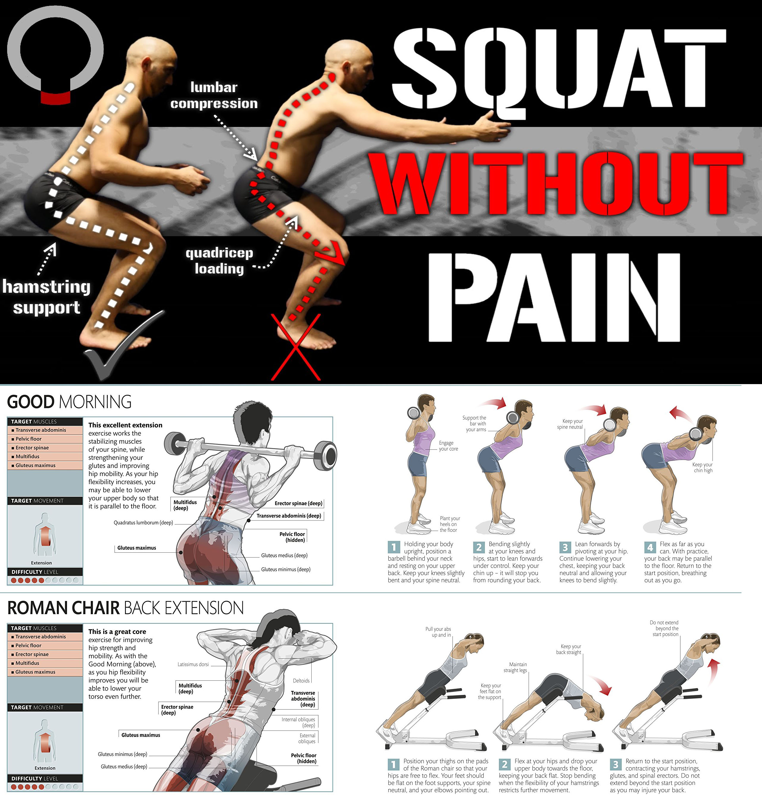 🔥Squat Without Pain