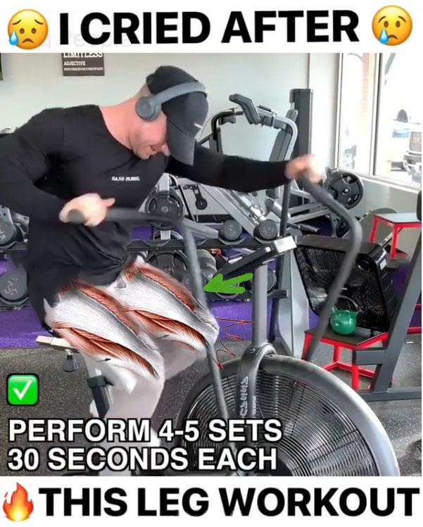 Air bike sprints.