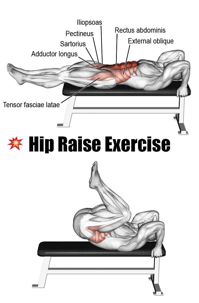✅HIP RAISE EXERCISE