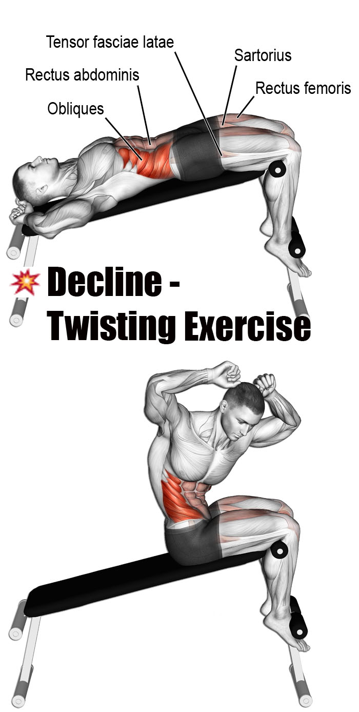 ✅DECLINE TWISTING EXERCISE