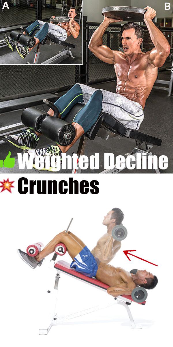 ✅Weighted Decline Crunches