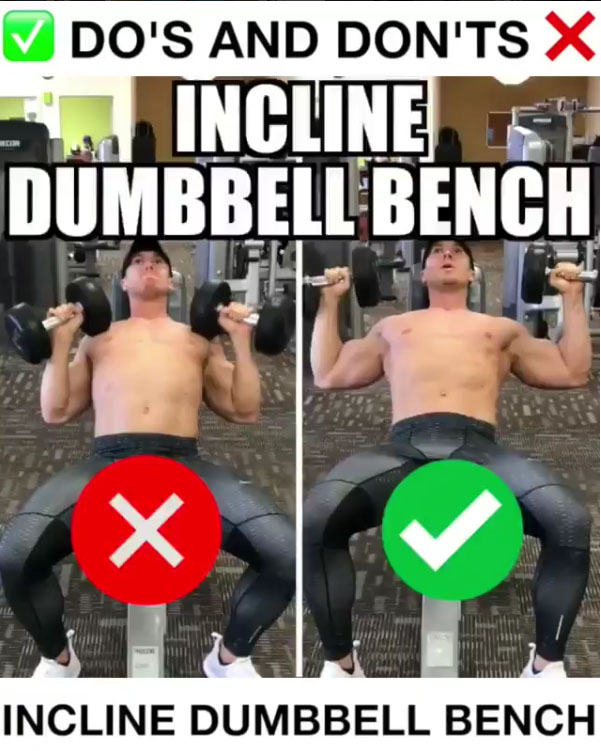 🚨Incline Dumbbell Bench Proper Form