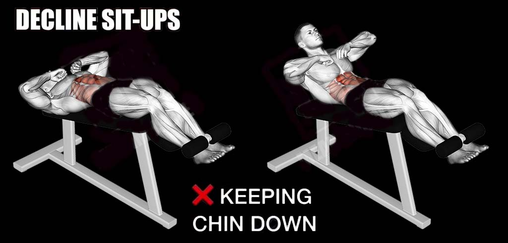How decline sit-ups wrong way