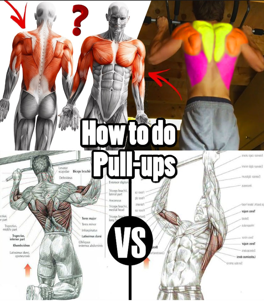 pull-ups with wide grip
