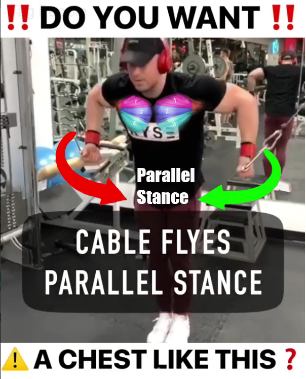 Cable Flyes Parallel Stance