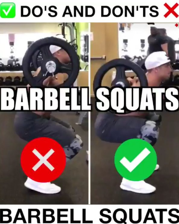 How to Barbell Squats