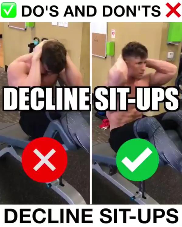 Decline Sit-Ups Proper Form