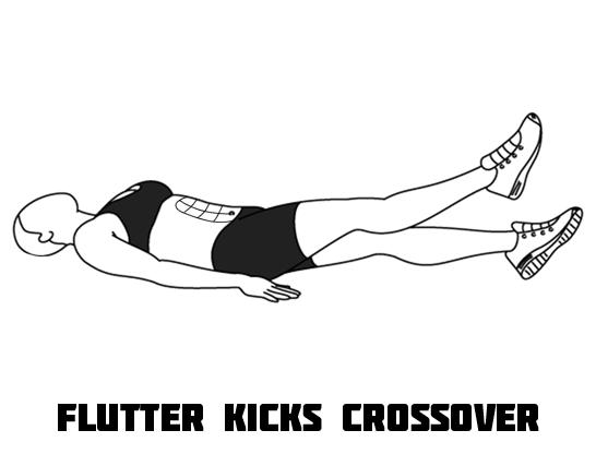 How to Do Flutter Kicks Crossover