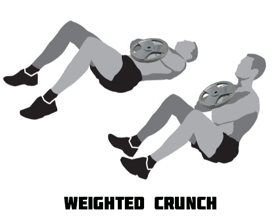 Weighted Crunch at Home Workout Ab