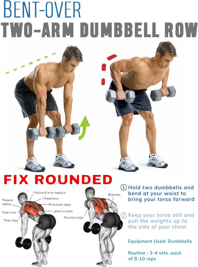 bent over two-arm dumbbell