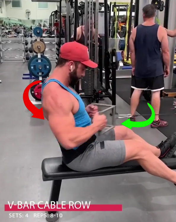 V-BAR CABLE ROW