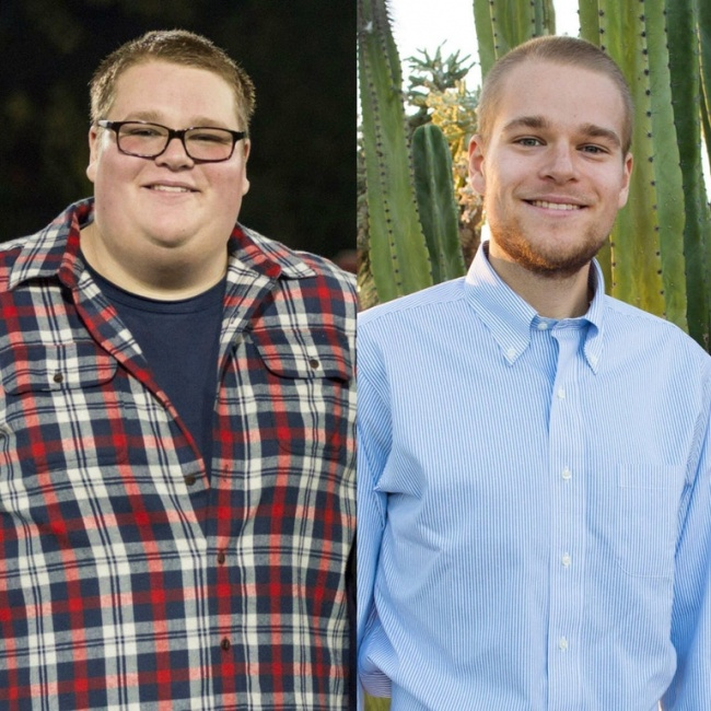 He lost more than 198 lb in 3 years.