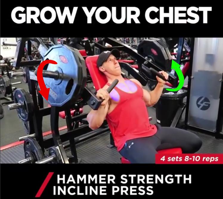 HAMMER STRENGTH INCLINE PRESS