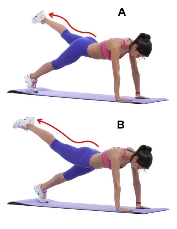 Plank leg raises