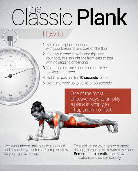 Plank Сhallenge Exercises