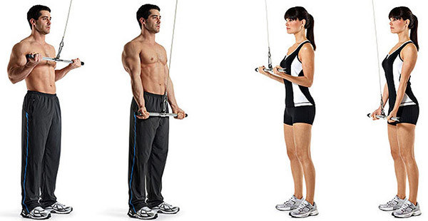 Reverse triceps extension exercises