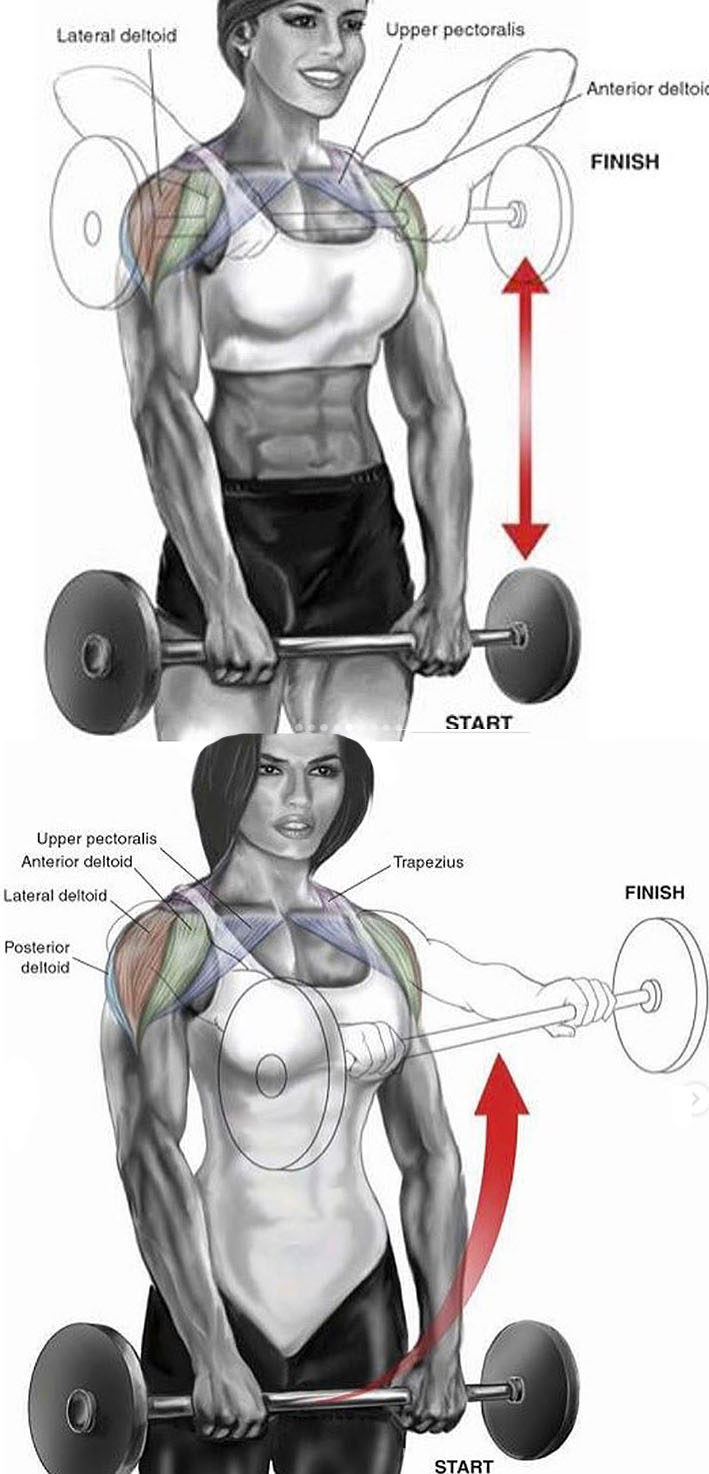 Wide-Grip Upright Row