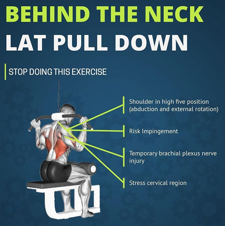 BEHIND THE NECK LAT PULL DOWN