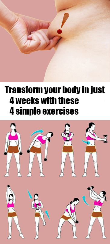 transform your body in just 4 weeks with these five simple exercises