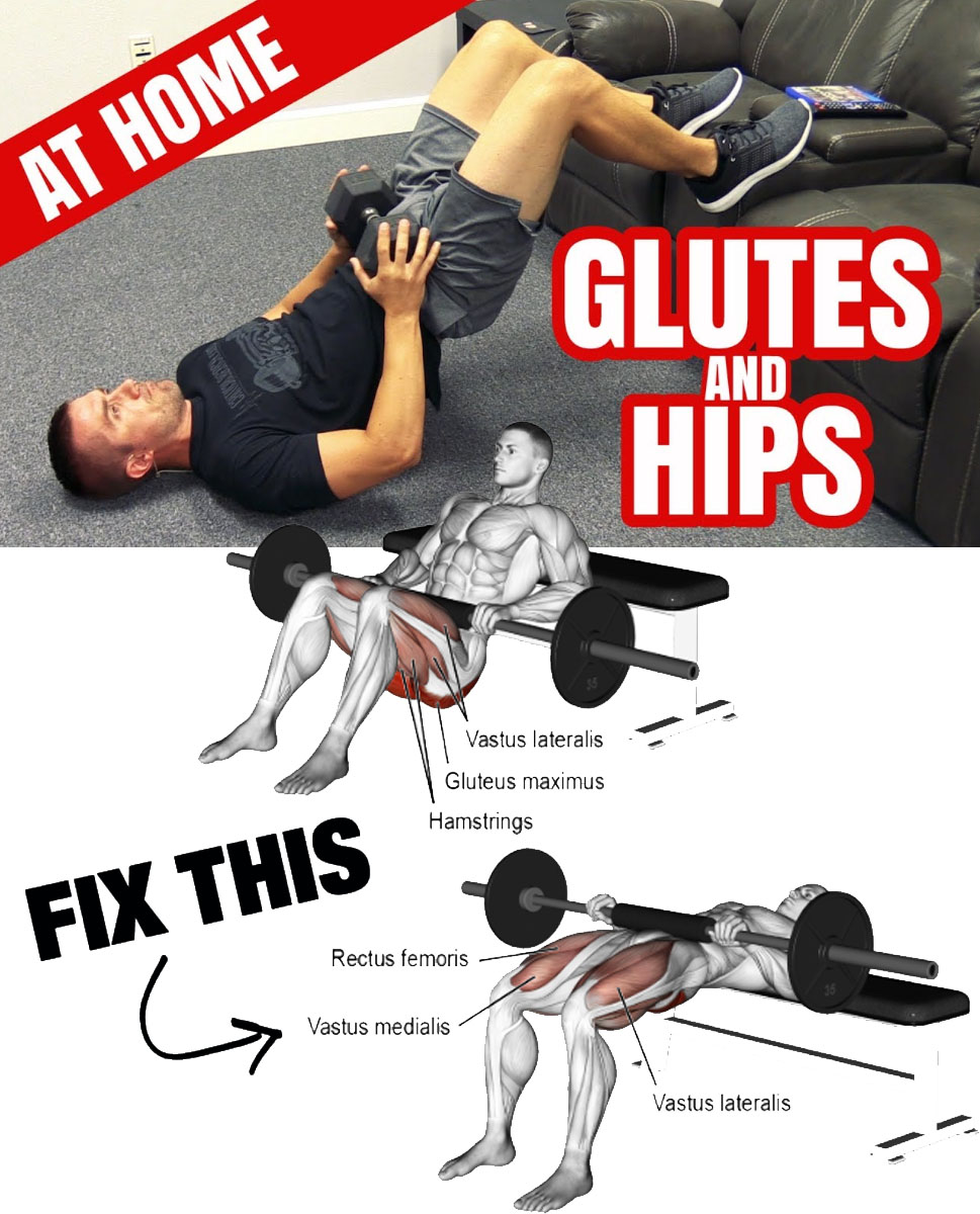 HIP THRUST TIPS: SHOULDERS IN LINE WITH THE PELVIS