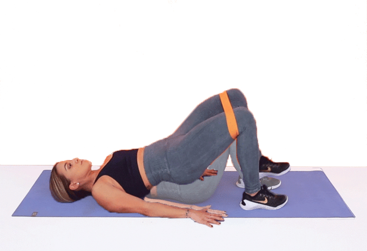 Glute Bridge with exercise bands