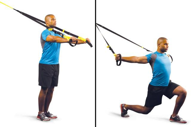 Step Forward Lunge With T-Fly