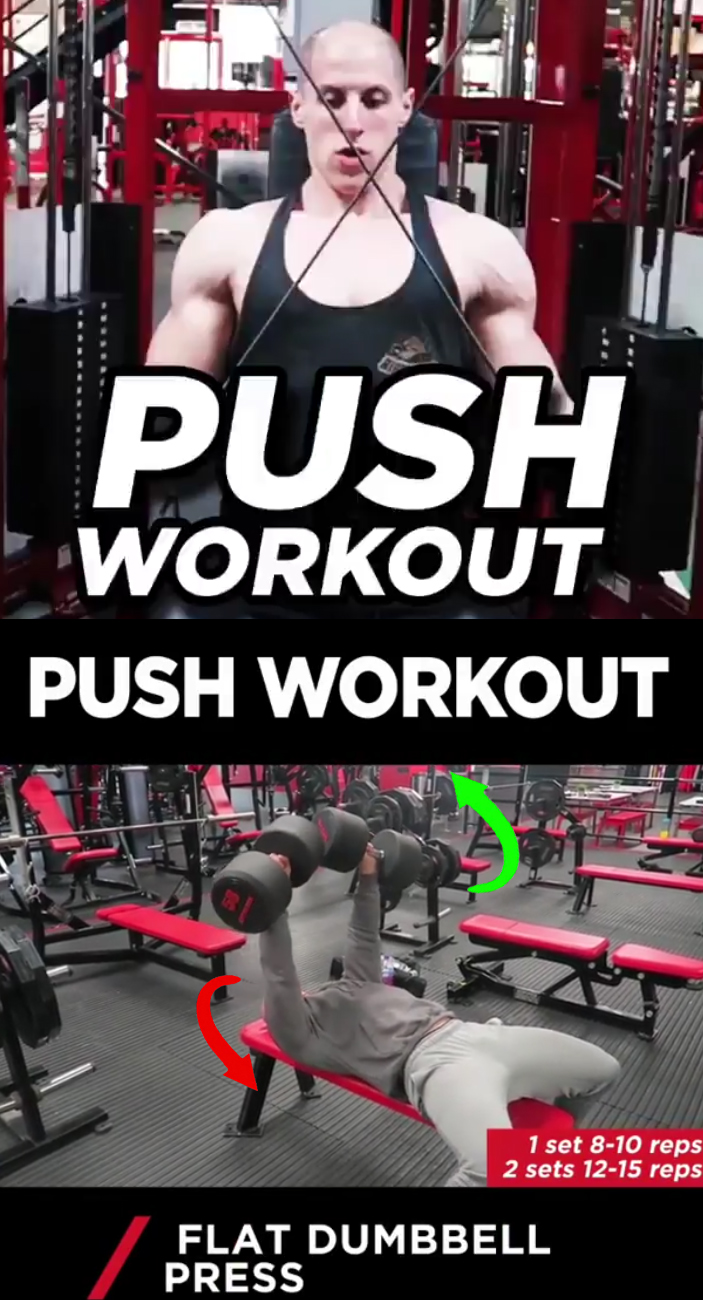 PUSH WORKOUT | FLAT DUMBBELL