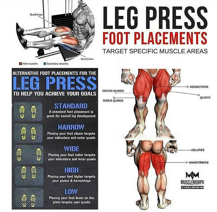 Change Leg Press Foot Variations