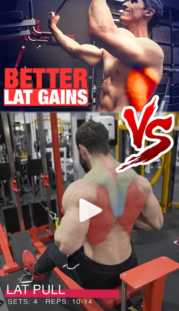 Straight-back seated cable row VS Medium-grip lat pull-down